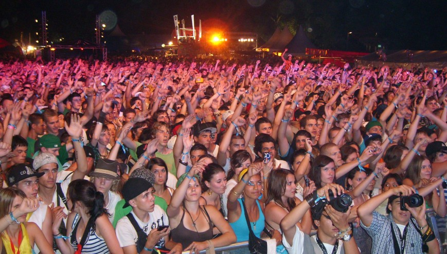 Summer festival, crowd