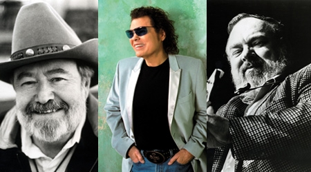 2014 CMA Hall of Fame Inductees [left to right]: Hank Cochran, Ronnie Milsap, Mac Wiseman (photo: countryweekly.com)