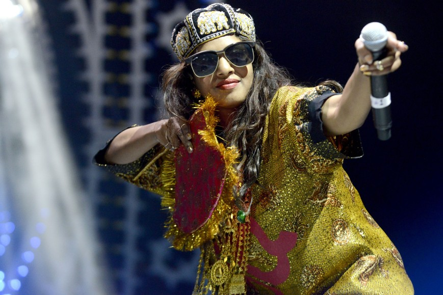 The controversial M.I.A. in action (photo: pagesix.com)