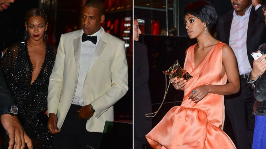 Jay Z, Beyonce, and Solange attending a party in Hollywood (photo: abcnews.go.com)