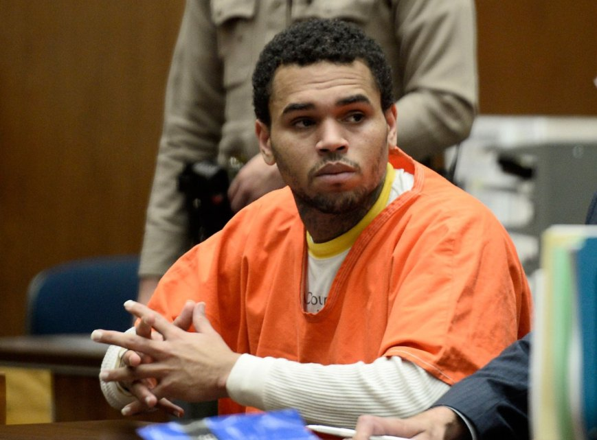 Chris Brown was released from LA County Jail early Monday morning (Photo: courtesy of Time.com)