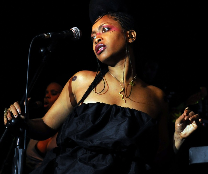 "The ""eccentric"" Erykah Badu performs live (Photo: courtesy of widescreen.com)"