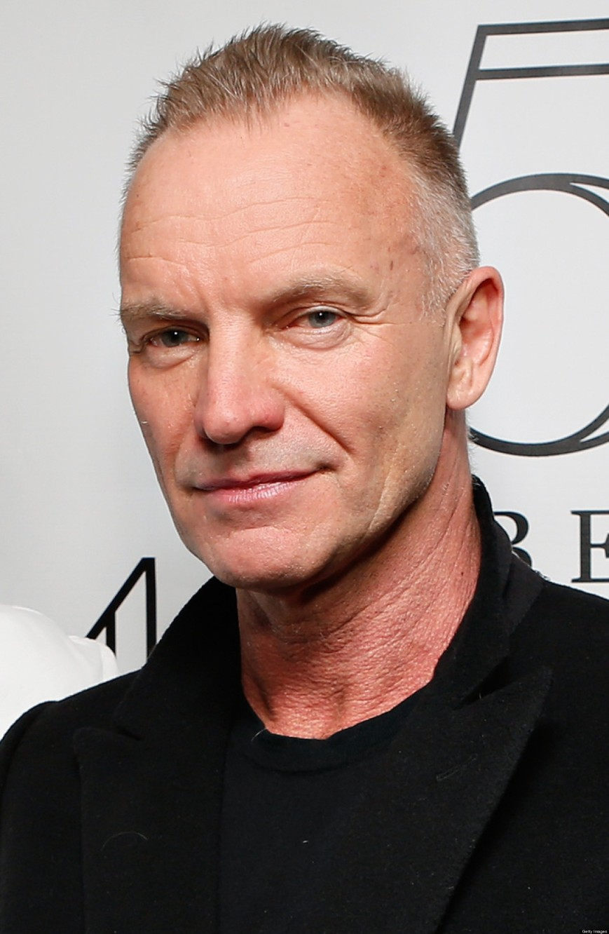 Singer/songwriter Sting gave fans a preview of his upcoming album and Broadway play at the 2014 Tony Awards (photo: Huffingtonpost.com)