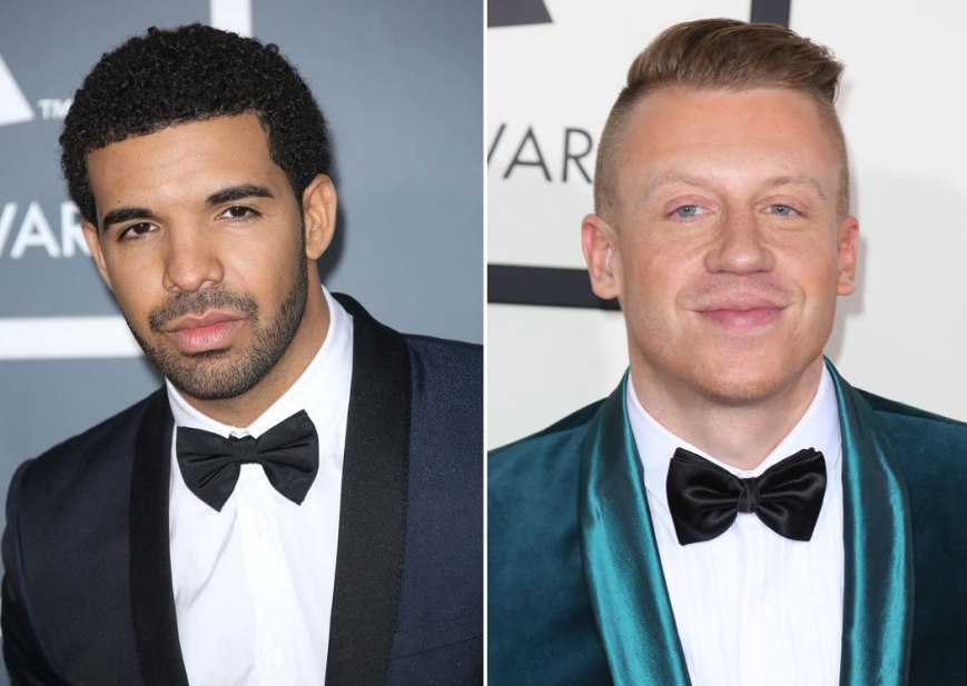 Drake used his status as host of the ESPYs to take another potshot at Macklemore (Photo: courtesy of laineygossip.com)