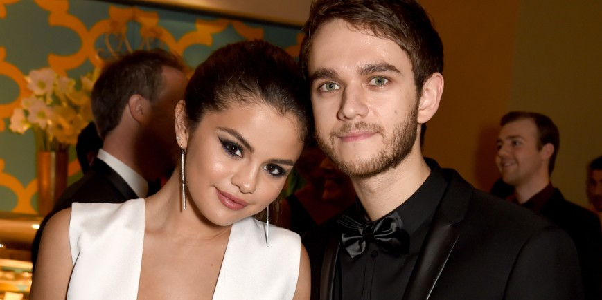 Selena Gomez and musician Zedd attend HBO's Official Golden Globe Awards After Party at The Beverly Hilton Hotel on January 11, 2015 in Beverly Hills, California.